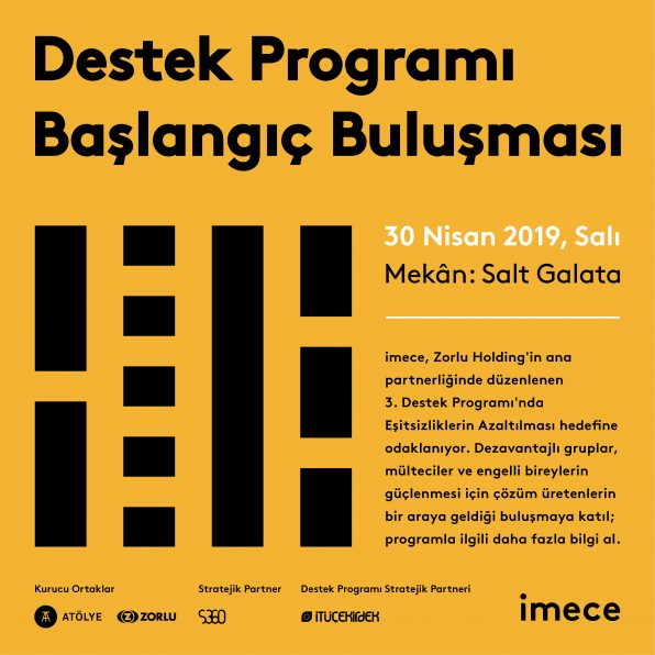 3. Destek Programı Başlangıç Buluşması 30 Nisan Salı günü gerçekleşiyor.