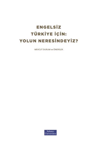 Engelsiz bir Türkiye için yolun neresindeyiz?